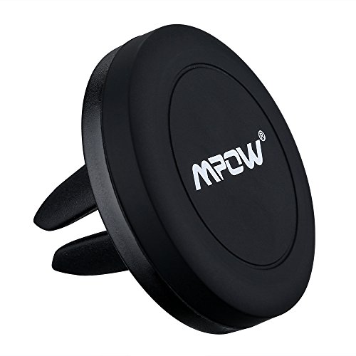[New Release] Car Mount,Mpow Grip Magic Universal Mobile Phone Air Vent Magnetic Car Mount Holder Cradle for iPhone 7/7Plus/6s/6/6 Plus, Samsung Galaxy S7/S6 Edge/S6/S5 and Other Smartphones--Black