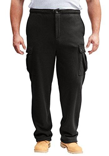 Boulder Creek Men's Big & Tall Thermal-Lined Cargo Pants, Black Big-4Xl (Pants Boulder)