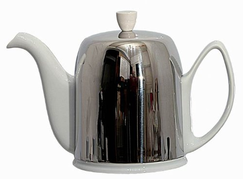 Guy Degrenne Salam White 6-Cup Tea Pot