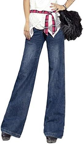avacostume Azul de la mujer amplia Pierna Flare jeans