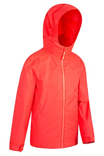 Childrens Seams Travelling Coat Ideal Coral Features Summer Torrent Jacket Zipped Waterproof Kids Jacket Taped Coat Mountain for Pockets Rain Adjustable Warehouse Summer CRxwPP