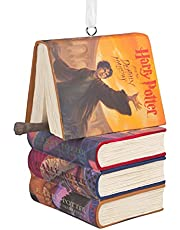 Hallmark Harry Potter Stacked Books with Wand Christmas Ornament