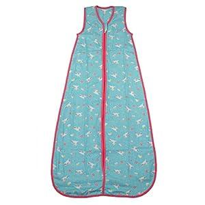 Slumbersac Summer Kid Sleeping Bag 0.5 Tog - Bamboo Muslin Unicorn - 3-6 years/130cm