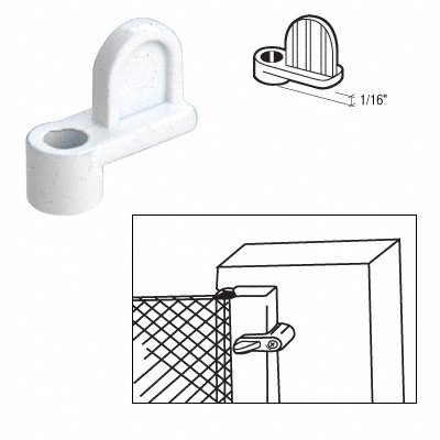 Diecast Window Screen Clips Package (CRL White 1/16