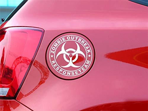 JFIDSJ Car Sticker Resident Evil Car Sticker Umbrella Company Logo Sticker Tank Cover Rearview Mirror Sticker Car Decoration (Color : White, Size : 1212cm)