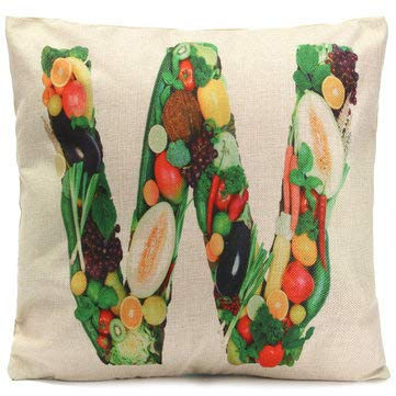 Alphabet A-Z Love Letters Word Fruit Throw Pillow