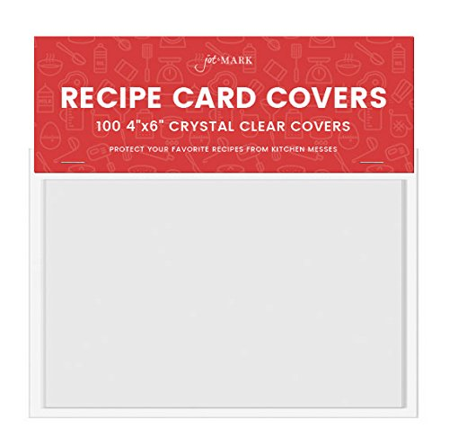 "Jot & Mark Recipe Card Protectors 4"" x 6"" Crystal"