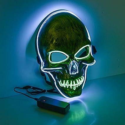 Máscara de Luz LED, el Alambre Máscara de Payaso, Máscara Cosida para Festivales / Halloween / Navidad / Noche de Hogueras / Bolas de Disfraces / ...