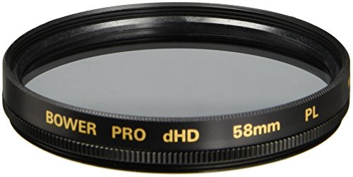 Bower FP58 58 mm Pro Digital High Definition Linear Polarizer Filter (Black) by Bower