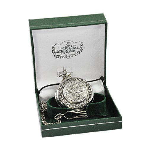 Mullingar Pewter Pocket Watch With Celtic Design And (Celtic Design Watch)
