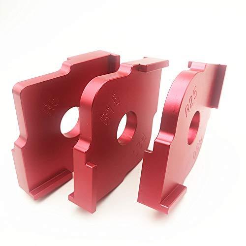 Set di 3/modelli di raggio Jig router in lega di alluminio con angoli arrotondati R5/R10/R15/R20/R20/R30