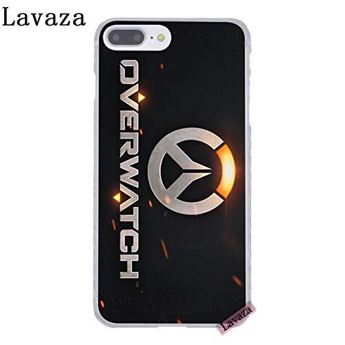 CH Black Grey Overwatch iPhone 5 Case Orange Gray Over Watch I Phone 5S Cover 5 SE Genji Hanzo Mercy Tracer Winston Esports PC Computer Gaming Theme Gun Game Shooter Hard Protector, Hard Plastic
