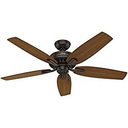 "Hunter 53323 52"" Newsome Ceiling Fan, Premier Bronze"