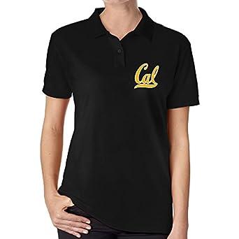 Yfgxh Womens California Golden Bears Logo Solid Polo Shirt