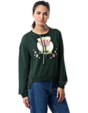 M.Sou Sweatshirts Full Sleeve Round Neck SizeFor Women