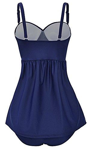 Gigileer - Tankini - para mujer azul azul marino Small