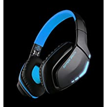 Bluetooth Headphones, Foldable DRUnKQUEEn V4.1 Gaming Headset Earbuds Handsfree Hifi Stereo Earphones with Mic for PS4 iPhone Samsung Galaxy Sony Smartphones Laptop Computer & other Bluetooth Devices