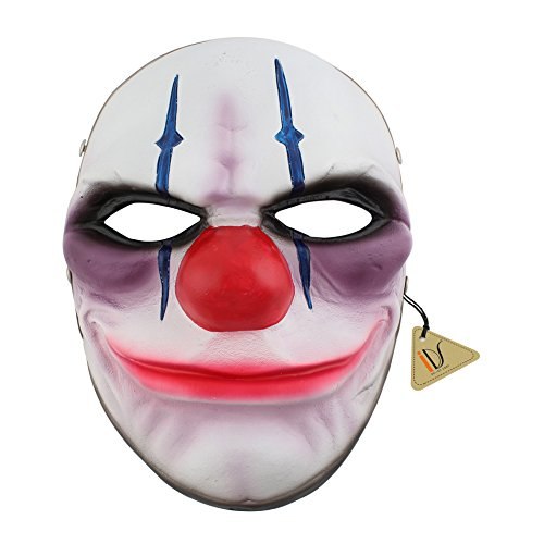Resin Chains Heist Joker Clown Mask Cosplay Halloween Party Prop (Payday 2 Hoxton Costume)