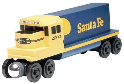 - Santa Fe Yellowbonnet GP-38 Diesel Engine - Wooden Toy Train by Whittle Shortline Railroad