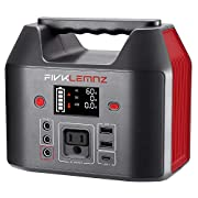 #LightningDeal FIVKLEMNZ 200W Portable Power Station, 180WH Solar Generator, 110V Pure Sine Wave AC Outlet, 12V DC Ports, 3 USB Ports, Backup Battery Power Supply for CPAP Outdoors Travel Hunting Emergency