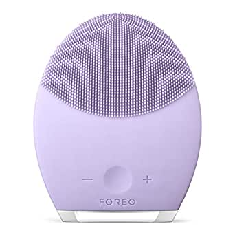 FOREO Luna 2 Facial Brush and Anti-Aging Face Massager for Sensitive Skin, 340g