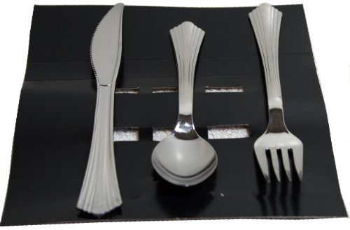 Large Product Image of Reflections Plastic Silverware, 160 Pieces