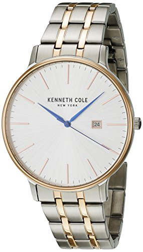 Kenneth Cole New York Men's 'Classic' Quartz Stainless Steel Dress Watch, Color:Two Tone (Model: KC15095003)