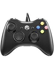 FOCOLABU Xbox 360 PC Game Wired Controller for Microsoft Xbox 360 and Windows PC (Windows 10/8.1/8/7) with Dual Vibration and Ergonomic Wired Game Controller