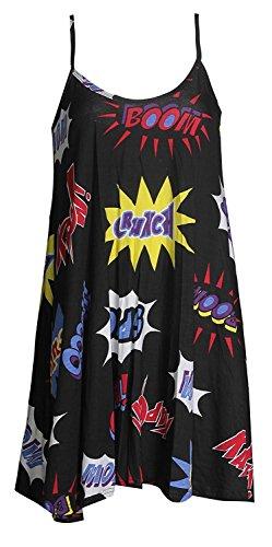 OgLuxe Boom Dress BOOM Bang Tartan Femmes Imprimer Swing Crane Rose Strap fxqwO6Afr