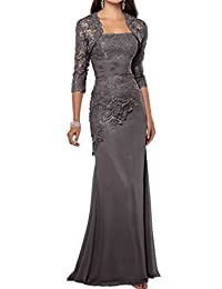Fashionbride Women's Lace Mermaid Long Mother of Bride Dresses With Jacket F271