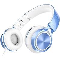 Ailihen MS300 Over-Ear 3.5mm Wired Earphones Headphones (Blue)