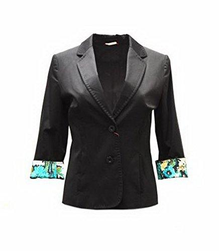 maxmara-womens-contrast-print-cuffs-polished-cotton-jacket-sz-4-black-120936mm