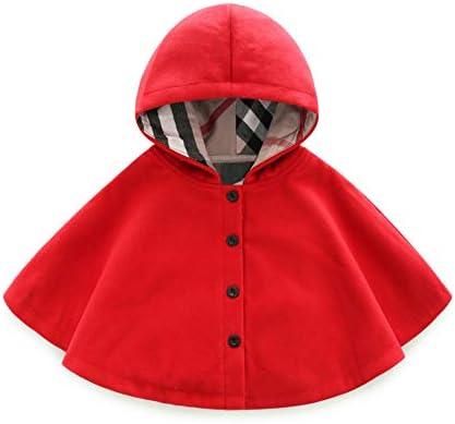 JanLEESi Unisex Baby Wool Blend Coat Winter Hooded Outerwear Toddler Girls Boys Poncho