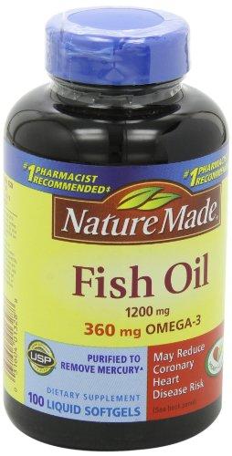 031604013288 - Nature Made Fish Oil Omega-3, 1200mg, 100 Softgels carousel main 7