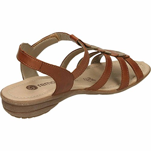 Women's Sandals Wedge Remonte Brown Heels R3658 dUHIqqwF