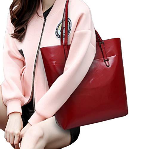 Bandoulière Shopper Tote Huicai L'épaule Sac Rouge Femme Main Pour Ou À wa0ZY