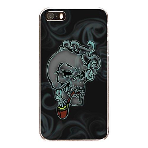 """Disagu Design Case Coque pour Apple iPhone 5 Housse etui coque pochette """"Death's head smoke"""""""