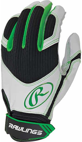 Rawlings EXCLBG-LGN-88 Batting Glove Green Small by Rawlings