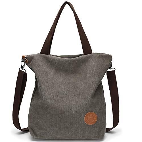 ladies Pocket Size for Shoulder Large use Black and Work Design Bag Travel Canvas Women Casual function Daily for Bag Multi Handbag Grey Crossbody School Shopping 8xYzfvw