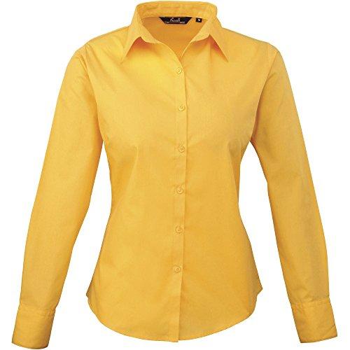 en pour manches popeline longues Chemisier Premier Sunflower femme en 6q7w51n