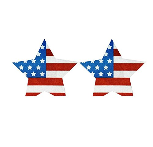 Sexy The American flag star Nipple Cover Pasties Breast Petals