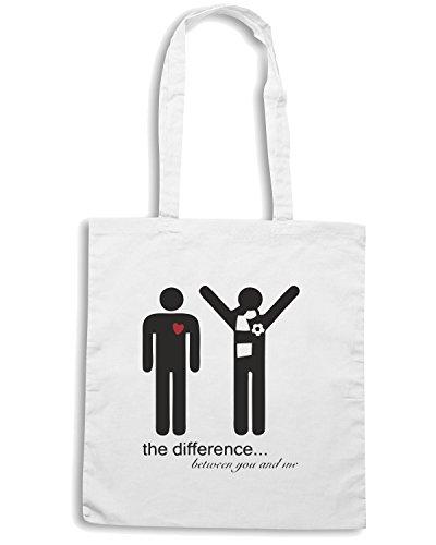 T-Shirtshock - Bolsa para la compra WC0591 the difference Blanco