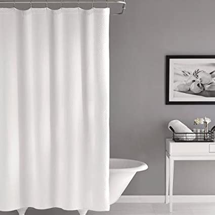 Easy To Hang Hotel Matelasse Shower Curtain Color White