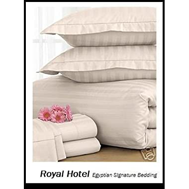 Queen Ivory Cotton-Blend Wrinkle-Free Sheets 650-Thread-Count Sheet Set