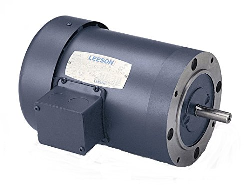Leeson 102666.00 General Purpose C Face Motor, 3 Phase, 48CZ Frame, Round Mounting, 1/2HP, 1800 RPM, 208-230/460V Voltage, 60Hz ()