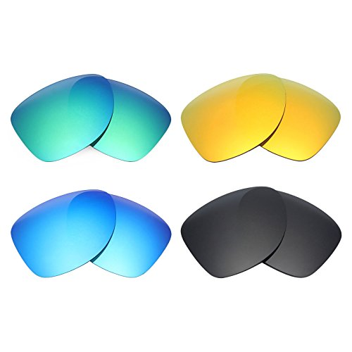 aacc2e6cf2 Mryok 4 Pair Polarized Replacement Lenses for Oakley Dispatch 2 Sunglass - Stealth  Black Fire Red Ice Blue Emerald Green - Buy Online in Oman.