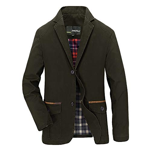 Inverlee-Mens Autumn Winter Fashion Single Row Buckle Pure Color Long Sleeve Suit Coat