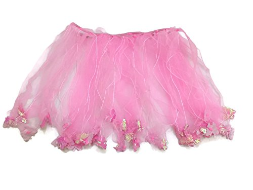 Rush Dance Ballerina Girls Dress-Up Fairy Butterfly Tinkerbell Costume Tutu (Kids (3-6 Years Old), Pink)