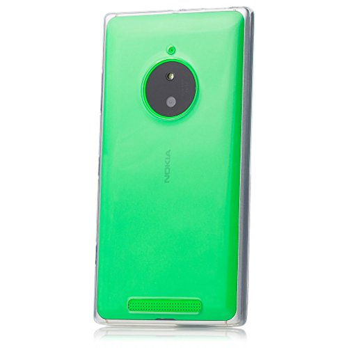 iCues | Compatible with Nokia Lumia 830 | Transparent TPU Case Clear | [Screen Protector Included] Clear Rubber Cover Crystal Transparent Silicone Shell TPU Minimalist (Nokia 830 Case Holster)