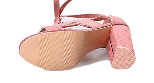 Libero Casuale Sandali Unita Super Alto Interno SOMESUN Tinta Antiscivolo Donna Col Tacco Tacco da Sandali Morbido Col Rosa Scarpe All'aperto Tempo UO6gx